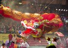 The dragon float at the Chinese New Year Parade
