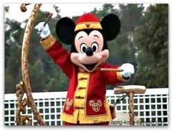 Mickey Mouse at HK Disneyland wearing Chinese costume