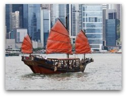 Duk Ling the Hong Kong Junk in Victoria Harbour