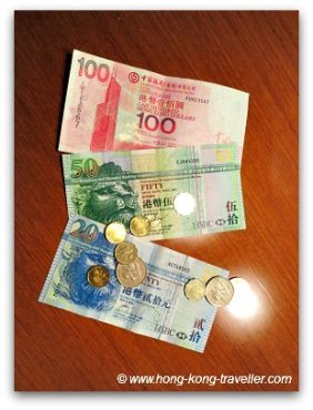 Hong Kong Money Notes and Coins