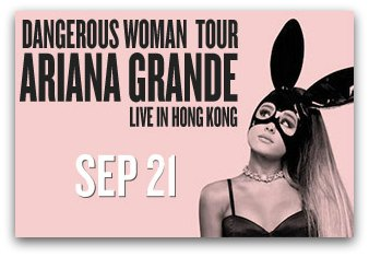Ariana Grande in Hong Kong