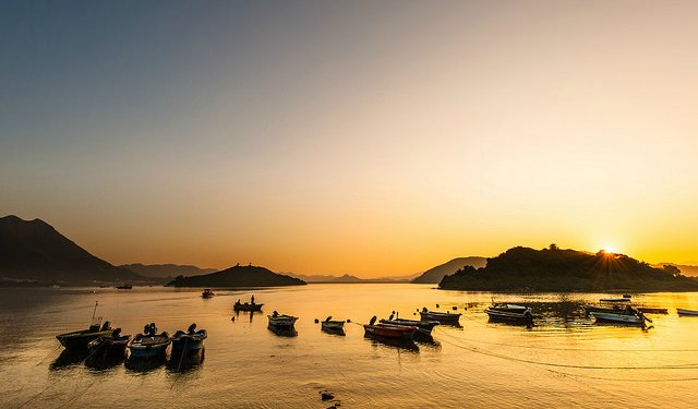 Beautiful August Sunset in Cheung Chau Island