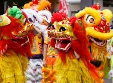 Birthday of Tam Kung  Celebrations Lion Dances