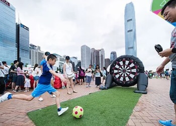 Carnival games at the Central Harbourfront Summerfest