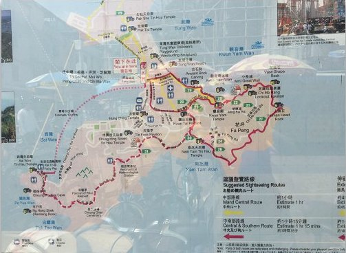 Hiking Trail Map in Cheung Chau