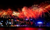 Chinese New Year Fireworks Cruise in Victoria Harbour Hong Kong