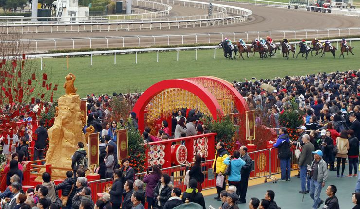 The Hong Kong Chinese New Year Horse Race Meeting at Sha Tin