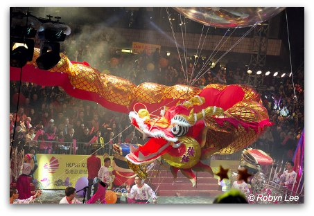 Chinese New Year Parade Dragon Float