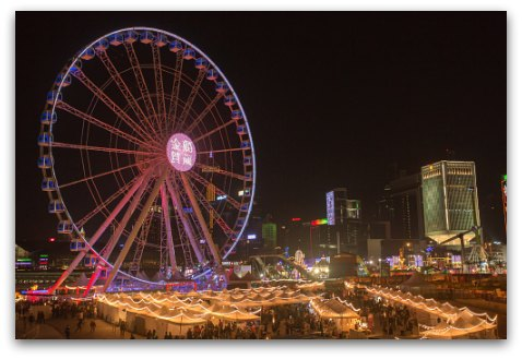 Christmas at Observation Wheel Hong Kong