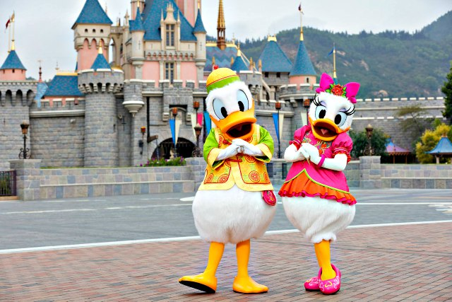 Donald and Daisy at Chinese New Year