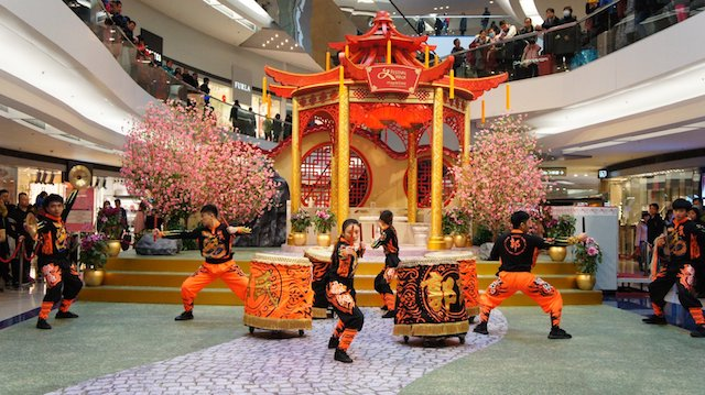 Lion Dances at Festival Walk Hong Kong