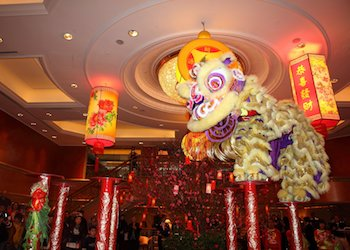 Chinese New Year Lion Dances at Holiday Inn