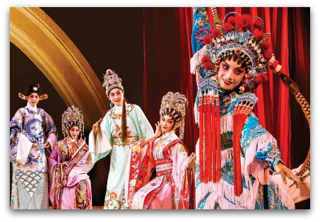 Cantonese Opera Exhibition at Times Square