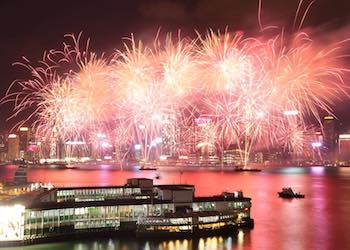 Fireworks views from Marco Polo Hong Kong