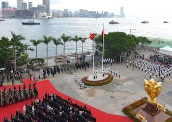 Hong Kong Flag Raising Ceremony