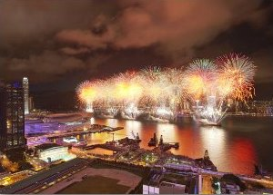 Fantastic fireworks views from Gloucester Hotel
