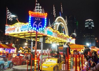Great European Carnival Rides at Night
