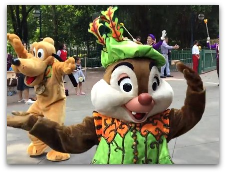 Chip and Dale in Halloween Costumes