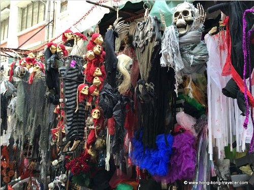 Halloween Masks and Costumes in Hong Kong Pottinger Street Market