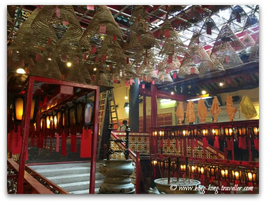 Interior of Man Mo Temple