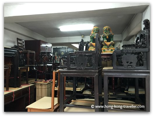 A Chinese Antique Furniture Store in Hollywood Road