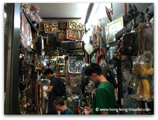 Curio Shop in Hollywood Road crammed with all sorts of goodies