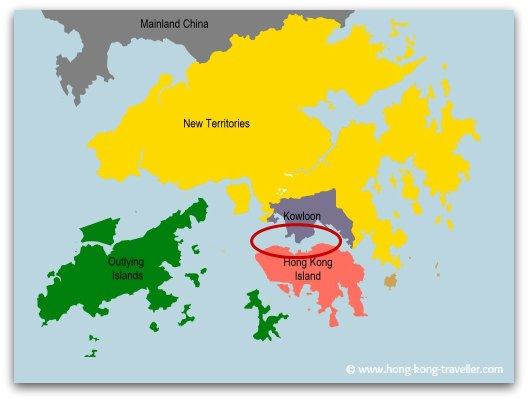 Hong Kong Main Areas: Hong Kong Island, Kowloon, New Territories and Outlying Islands