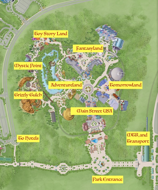 Hong Kong Disneyland Area Map