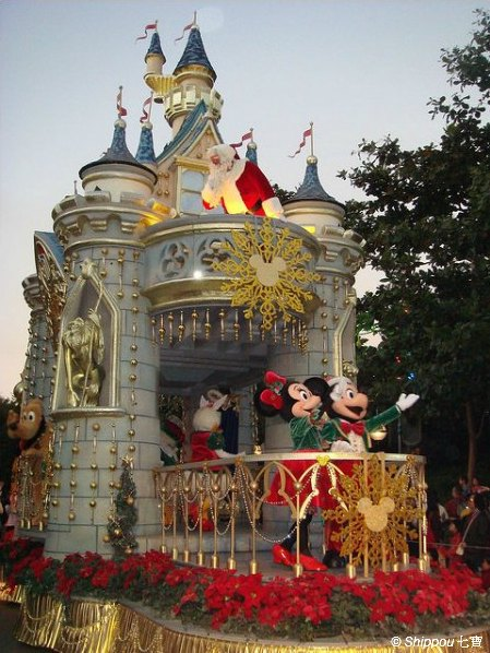 Hong Kong Disneyland at Christmas Time