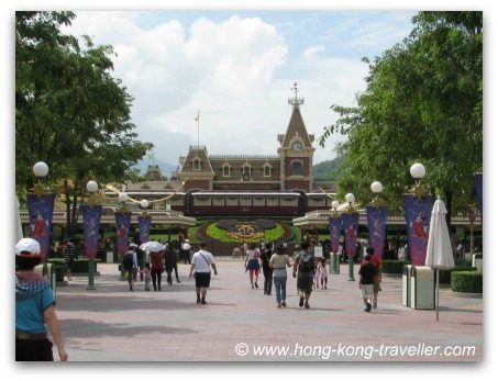 Main Entrance and ticket counters at Hong Kong Disneyland