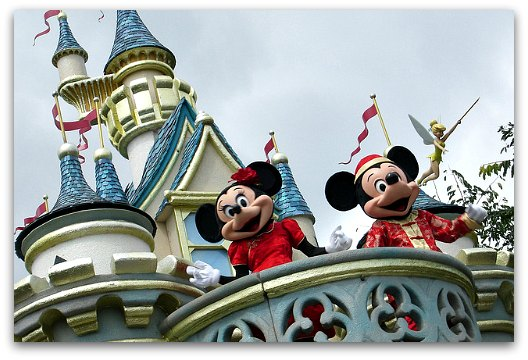Mickey and Minnie at Hong Kong Disneyland