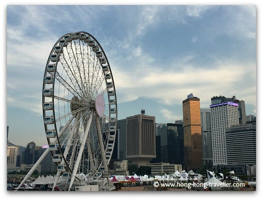 The Ferris Wheel at the Central Waterfront Promenade