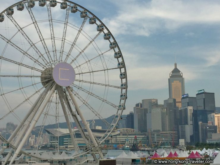 Hong Kong Ferris Wheel from Central Ferry Pier