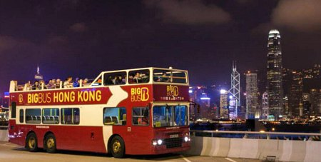 Night Bus Tour takes in the fantastic city lights and Symphony of lights Show