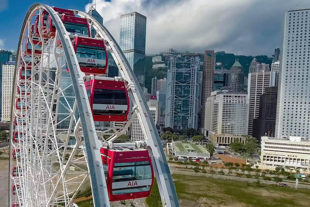 Hong Kong Observation Wheel Drone Views