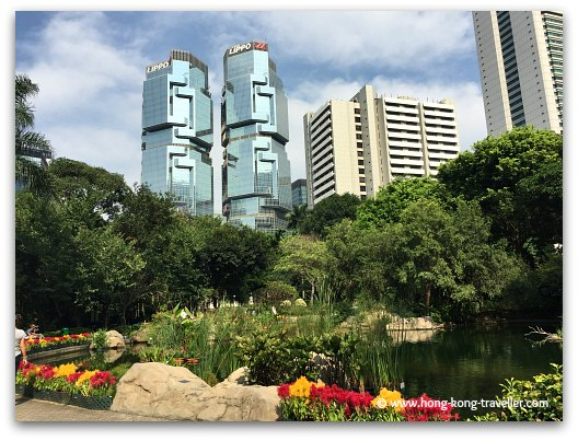 Hong Kong Park Views of Lippo Centre in Central