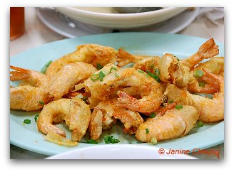 Deep fried prawns in Hong Kong