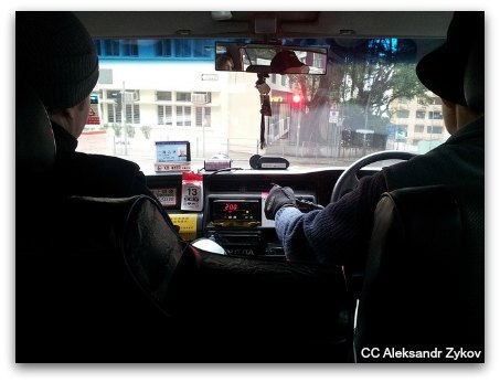 Riding Hong Kong Taxis: All are equipped with meters
