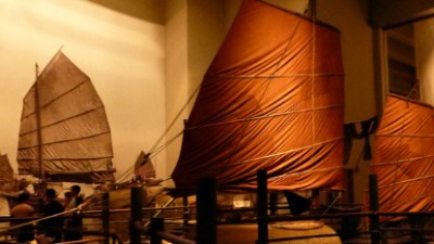 Sampan exhibit at the Museum of History