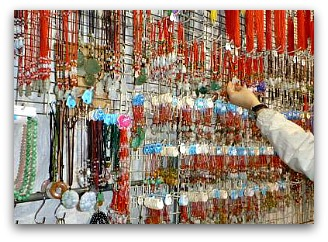 Jewelry and bling at Temple Street Night Market