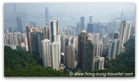 Hong Kong Victoria Peak Views from Sky Terrace