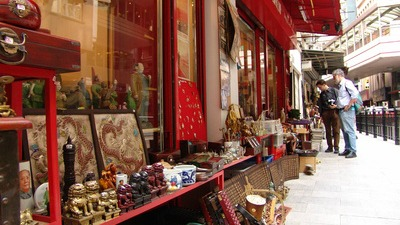 Trinket stalls at Cat Street
