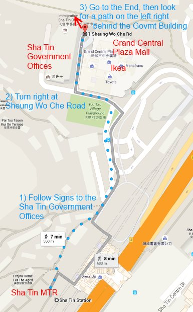 How To Get to the Ten Thousand Buddhas Map and Directions