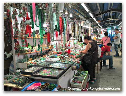 Jade Market Hong Kong: bracelets, rings, necklaces, loose stones