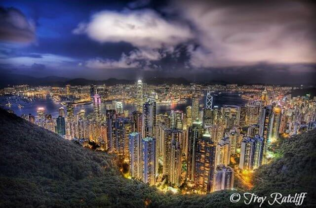 A Gorgeous Summer Night in Hong Kong