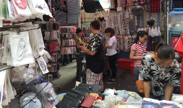 Ladies Market Stalls Hong Kong