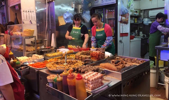 Ladies Market Hong Kong - food stalls