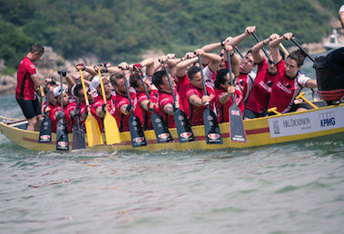 Lamma Dragon Boat Festival at the Beach