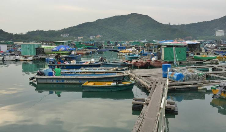 Lamma Island at the Sok Kwu Wan Fishing Village