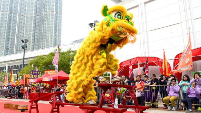 Hong Kong Chinese New Year Lion Dance